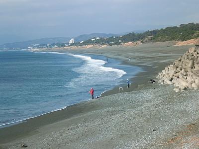 画像:A.M.8:30頃の大磯海岸です。